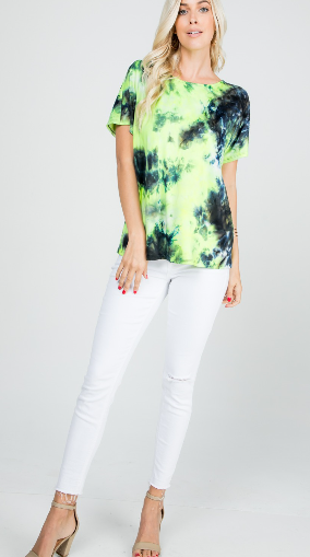 Shine bright tie dye twist back top - Tiny Town Essentials