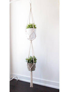 Macrame Plant Hanger, Hanging Planter - Tiny Town Essentials
