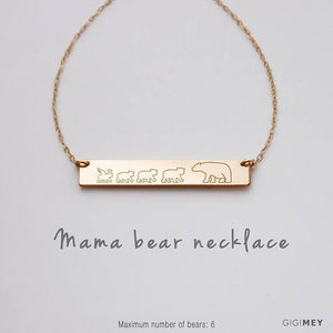 Mama Bear Necklace, Mama Cubbies, Mama Bear Baby - Tiny Town Essentials