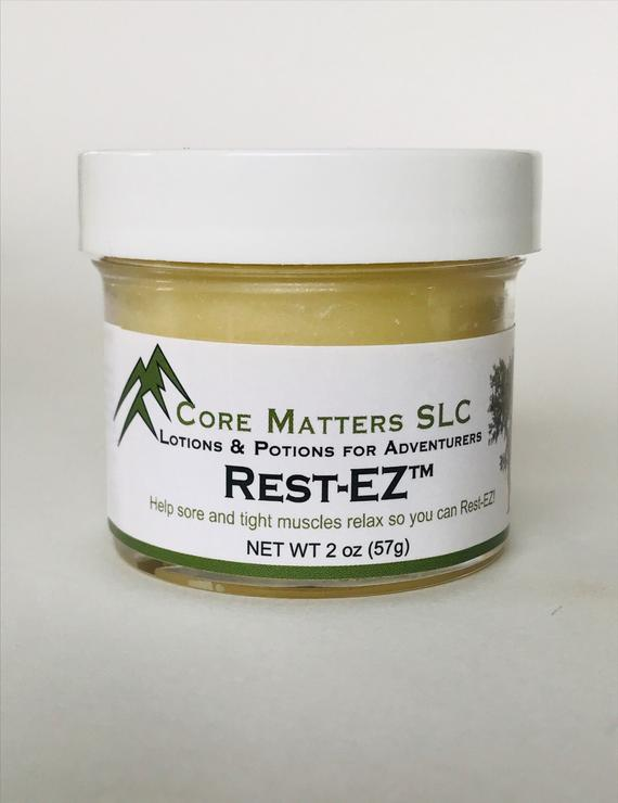 Rest-EZ balm - A muscle rub for tight knots and - Tiny Town Essentials