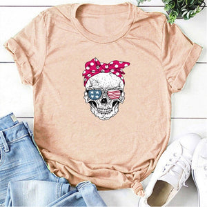 Sugar Skull Graphic Tee - Tiny Town Essentials