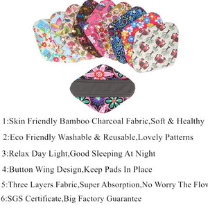 Reusable Bamboo Menstrual Pads - Tiny Town Essentials