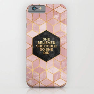 She Believed She Could So She Did Mobile Cover - Tiny Town Essentials
