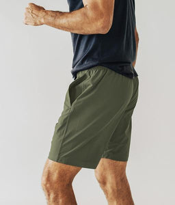 Olive Plain Shorts - Tiny Town Essentials