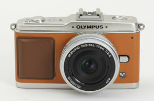 Camera Leather decoration sticker for Olympus E-P1/EP2 Camel Type