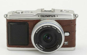 Camera Leather decoration sticker for Olympus E-P1/EP2 Crocodile Brown Type