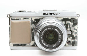 Camera Leather decoration sticker for Olympus E-P1/E-P2 DIGITAL URBAN CAMOUFLAGE