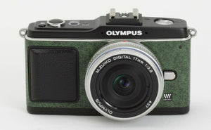 Camera Leather decoration sticker for Olympus E-P1/EP2 Green