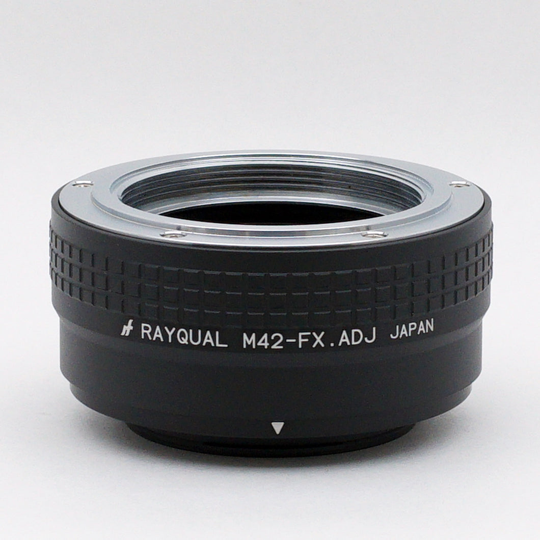 Kindai(Rayqual) Mount Adapter for Fuji X body to M42 ADJ type lens Made in Japan M42-FX.ADJ
