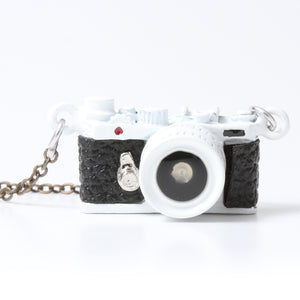 Miniature Camera Necklace Range finder type White Made in Japan