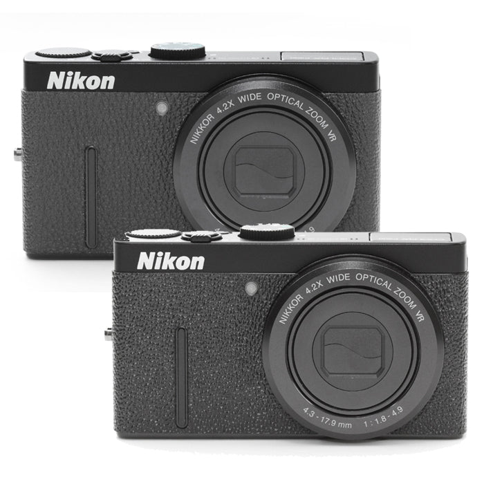Camera Leather decoration sticker for Nikon COOLPIX P300 [Black 2types]