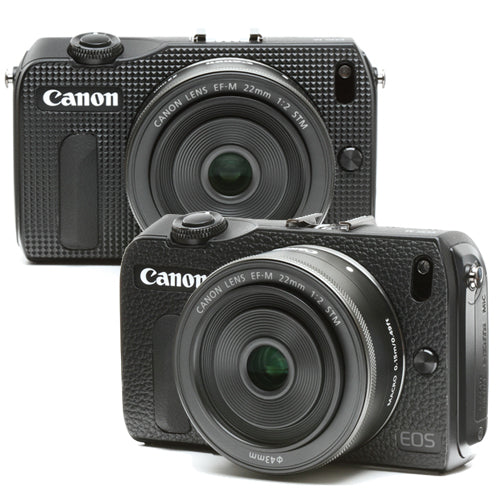 Camera Leather decoration sticker for Canon EOS M [Black 4 types]