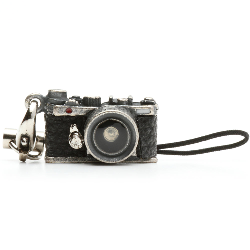 Miniature camera charm Range finder type Antique Silver Made in Japan
