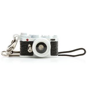 Miniature camera charm Range finder type White Made in Japan