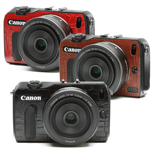 Camera Leather decoration sticker for Canon EOS M [Crocodile 3 colors]
