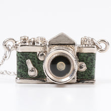 Load image into Gallery viewer, Miniature Camera Necklace SLR type Green leather Made in Japan