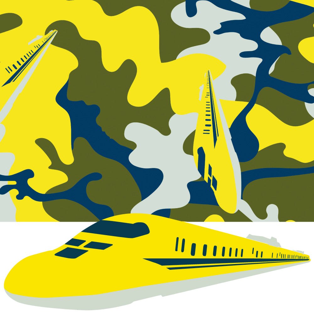 EASY WRAPPER Shinkansen Camouflage [DOCTOR YELLOW(Class 923) 4 sizes]