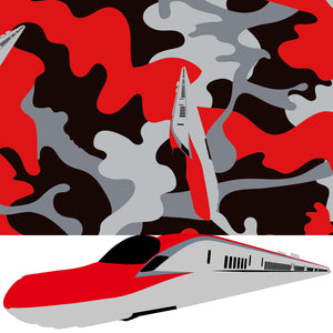 EASY WRAPPER Shinkansen Camouflage [KOMACHI (E6 series) / 4 size]