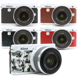 Camera Leather decoration sticker for Nikon1 J2 & J1 [6 colors]