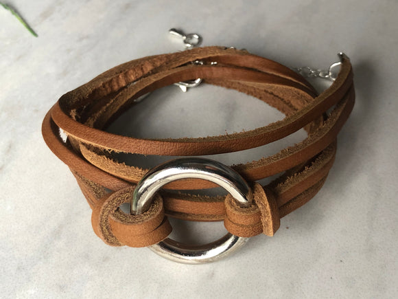 Double the Fun wrap leather bracelet