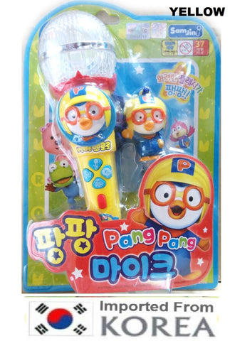 PORORO MELODY MIKE / MICROPHONE TOY WITH PORORO FIGURINE [FROM KOREA]