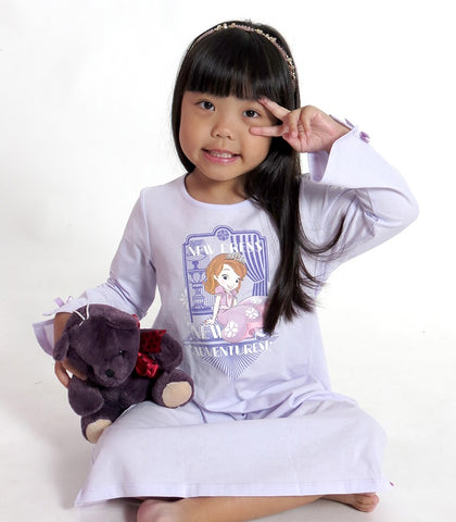 DISNEY SOFIA THE FIRST PYJAMAS SLEEP DRESS - PURPLE [DSF-0373-02]
