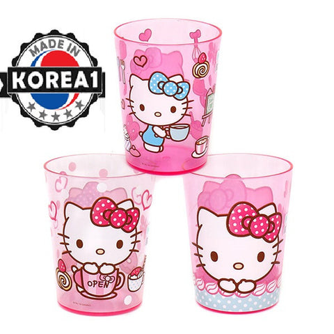 HELLO KITTY 3PC CUPS- PINK [MADE IN KOREA]