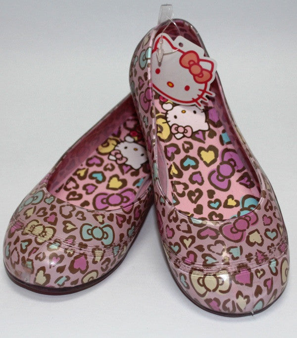 HELLO KITTY KIDS JELLY SHOES- LEOPARD LIGHT PINK K 3208 [MADE IN TAIWAN]