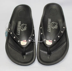 HELLO KITTY WOMEN SLIPPERS- BLACK K 910627 [MADE IN TAIWAN]