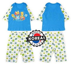 PORORO KIDS SHORT SLEEVE SET- STAR BLUE [MADE IN KOREA]