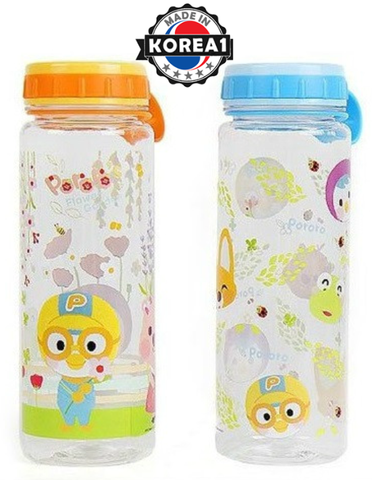 PORORO KIDS SIMPLE WATER BOTTLE -BLUE [MADE IN KOREA]