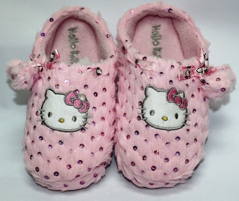 HELLO KITTY KIDS BEDROOM SLIPPERS- PINK K 2353 [MADE IN TAIWAN]