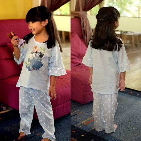 DISNEY PRINCESS CINDERELLA PYJAMAS SLEEP WEAR SET- BLUE [DP-4101-22]