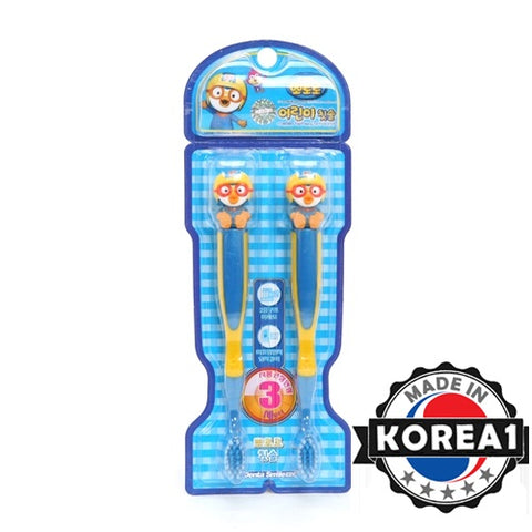 PORORO KIDS TOOTHBRUSH- 2 PC SET [MADE IN KOREA]