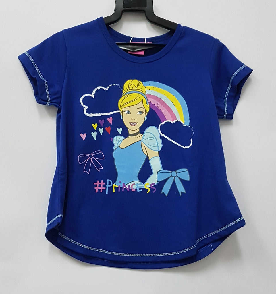 DISNEY PRINCESS CINDERELLA HAPPY SUNNY DAYS BLUE TOP [DP-3965-08]
