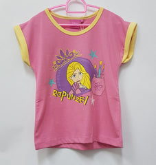 DISNEY PRINCESS RAPUNZEL HAPPY SUNNY DAYS PINK TOP [DP-3964-08]