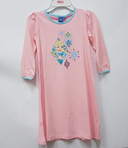 DISNEY FROZEN ELSA PYJAMAS SLEEP DRESS PINK PRINCESS CUT [DP-4032-02]