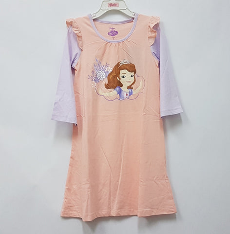 DISNEY PRINCESS SOFIA THE FIRST PYJAMAS SLEEP DRESS- PINK [DSF-0429-02]