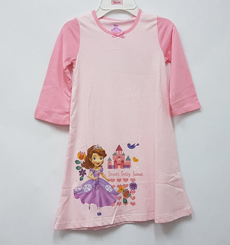 DISNEY PRINCESS SOFIA THE FIRST PYJAMAS SLEEP DRESS -PINK COLLAR [DSF-0465-02]