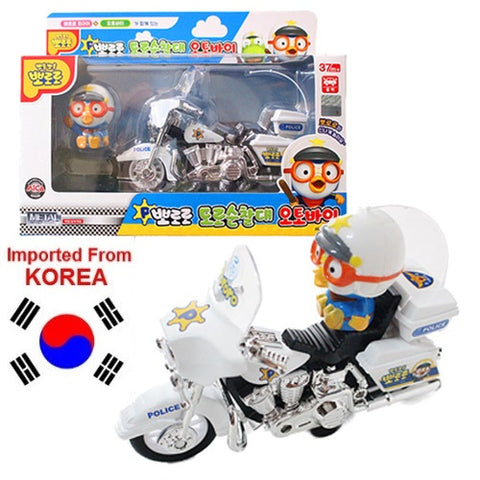 PORORO FIGURINE & MOTORCYCLE TOY [DIE-CAST] [FROM KOREA]