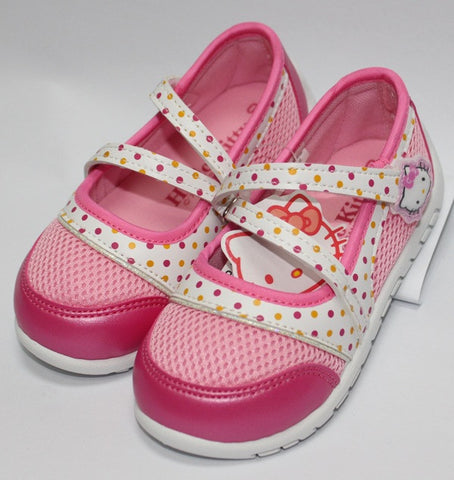 HELLO KITTY KIDS SHOES- DOTS PINK K 712318 [MADE IN TAIWAN]