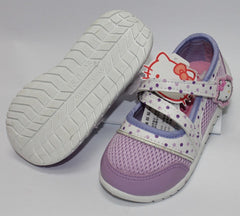 HELLO KITTY KIDS SHOES- DOTS PURPLE K 712318 [MADE IN TAIWAN]