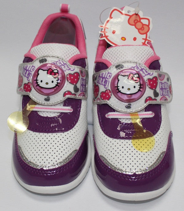 HELLO KITTY KIDS SHOES - PURPLE WITH FLASHING LIGHTS K 712323 [MADE IN TAIWAN]