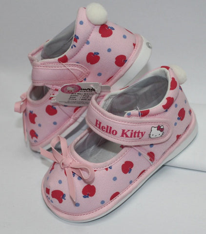 HELLO KITTY BABY SHOES WITH BEEP-APPLE PINK K 3177 [MADE IN TAIWAN]