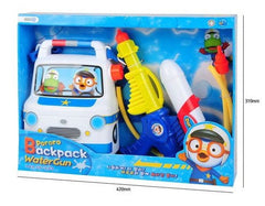 PORORO WATER GUN BACKPACK- POLICE