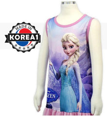 [MADE IN KOREA] FROZEN ELSA SLEEVELESS DRESS- PINK