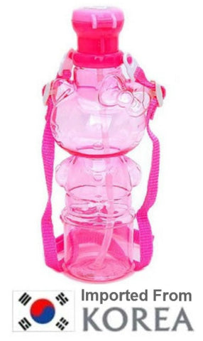 HELLO KITTY WATER BOTTLE W STRAP- WHOLE KITTY
