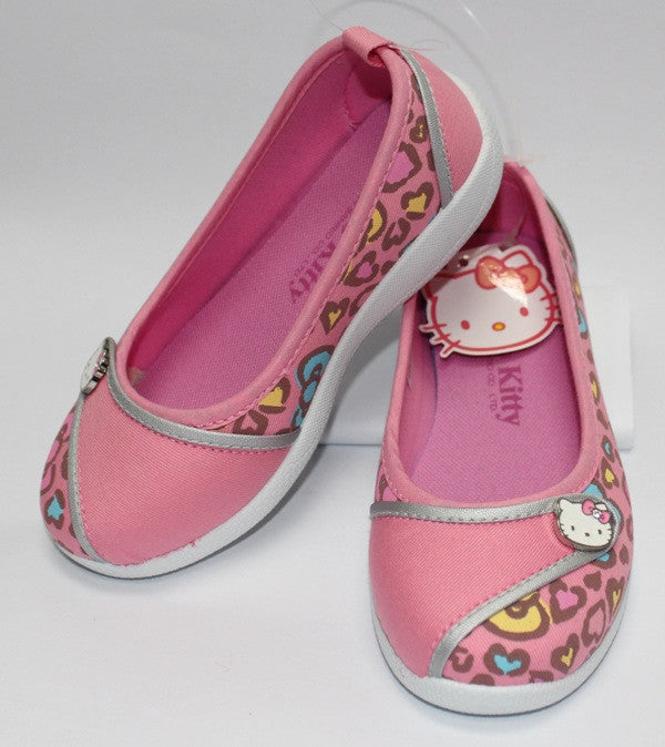 HELLO KITTY KIDS FABRIC SHOES- LEOPARD PINK K 3219 [MADE IN TAIWAN]