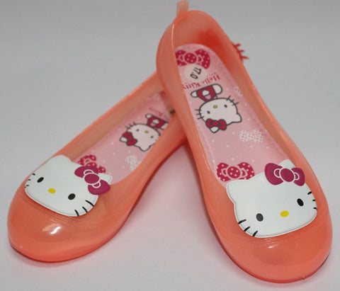 HELLO KITTY KIDS JELLY SHOES-ORANGE K 3155 [MADE IN TAIWAN]