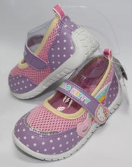 HELLO KITTY KIDS SHOES- DOTS PURPLE K 714707 [MADE IN TAIWAN]
